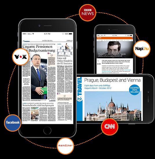 Online, print, RTV és közösségi média